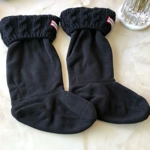 Tall Hunter boot socks knitted